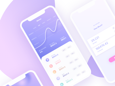 Crypto Wallet wallet crypto cryptocurrency bitcoin ethereum graph app iphone x balls float litecoin cryptocurrency wallet