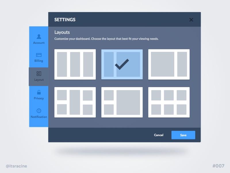 Daily UI #007 - Settings sketch .sketch freebie layout monochromatic settings 007 widget dailyui ios