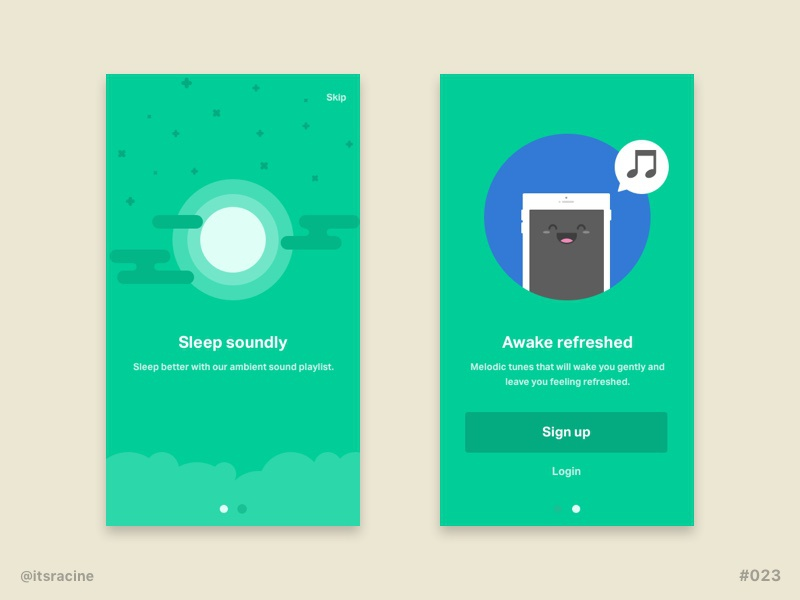 Mobile Onboarding Screens For Sketch