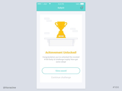 100 -  Congratulations card app mobile ios congratulations card 100 .sketch sketch freebie dailyui