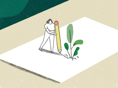 Design your personal growth growth illustration