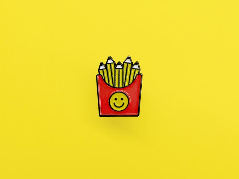 Author Reward Pin ☺︎ fries pencil pin