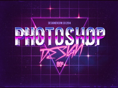 3d Text 80s Style