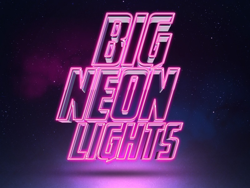 Neon 3d Text by Designercow on Dribbble