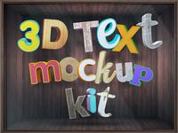 3d Text Mockup Kit