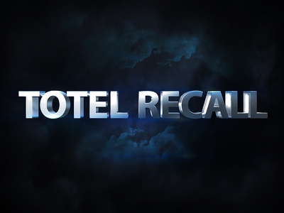 Cinematic 3d Movie Style Total Recall total recall movie title cinematic text cinematic movie style 3d text avengers
