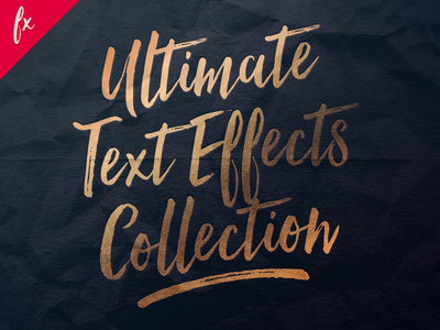 Ultimate Text Effect Collection text effect metallic gold foil hot foil