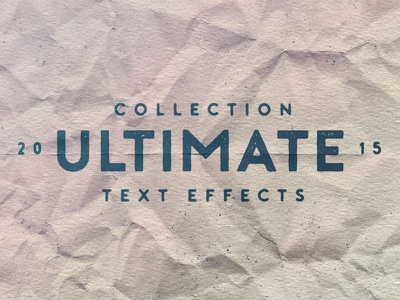 Ultimate Text Effect Collection Dribbble2 letterpress ink stamp