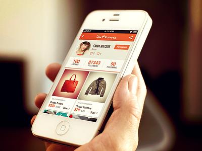 Satsuma Mobile App iphone ios 7 android ipad ui shopping sale psd india bangalore kerala app