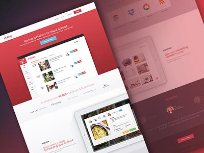 Viraltag Homepage tagging app landing page social media website web app flat ui ui design bangalore india kerala psd