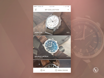 Wrist Watchers - Collection Screen logo psd bangalore india vintage retro collection ios mobile app clock time watch. wristwatch