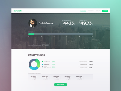 Investify bangalore india finance graph funds money dashboard investment application website