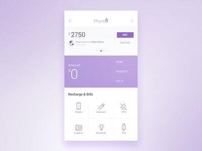 PhonePe flat ui india bangalore recharge share payment android iphone mobile wallet