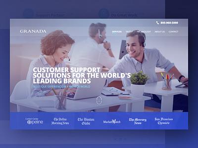 Granada bangalore india web psd technology customer support landing page website
