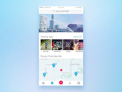Explore iphone camera india bangalore tag map photography album app ui design player video