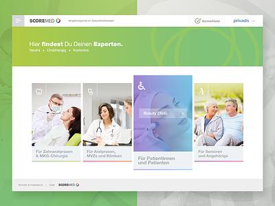 Scoremed design psd bangalore india website health care dental web ui app medical