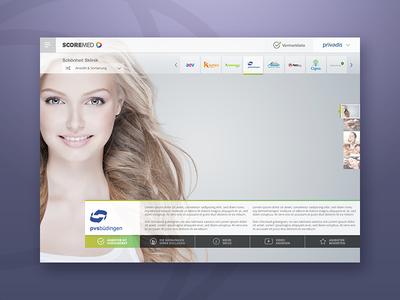 Scoremed  medical app ui web dental care health website india bangalore psd design