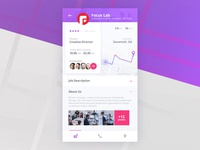 Interview App - Company page