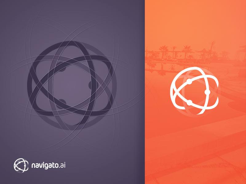 Navigato Logo branding psd india bangalore rating booking hotel travel search artificial intelligence ai logo