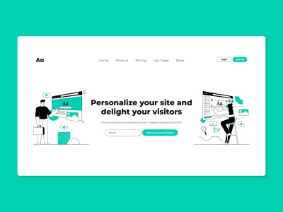 Personalize Website minimal latest ux creative abstract concept ui design vector illustration
