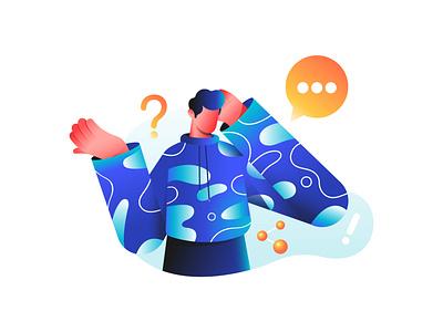 FAQ -Illustration trending color digital art latest character creative abstract dribbble colors minimal vector illustration