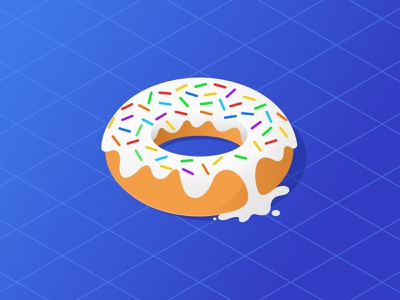Creamy Donut latest color digital art creative concept abstract dribbble colors vector illustration