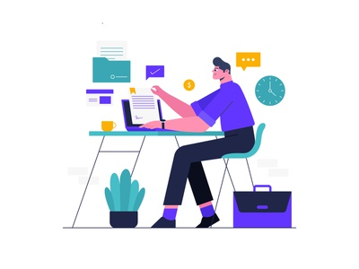Digital Documents - Illustration clever creative dribbble ui illustration website illustration business registration documentation illustration digital document vector