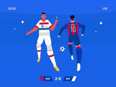 Dribble past clever colors dribbble creative minimal champions league bayern munich dribbling barcelona football messi illustration vector