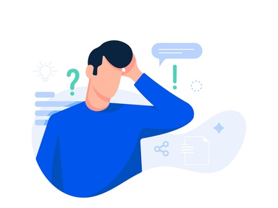 FAQ - Frequently Answered Questions help desk faqs office ui web illustration designer latest character concept digital art vector colors minimal design illustration