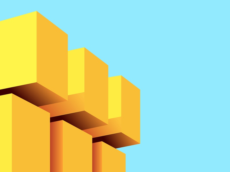 CUBES angle prespective clean cube blue trending animation designer combination creative latest abstract dribbble concept digital art vector colors minimal illustration design