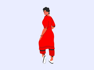 LADY Illustration modern model pose posing fashion illustration lady women girl character indian vector dribbble design illustration