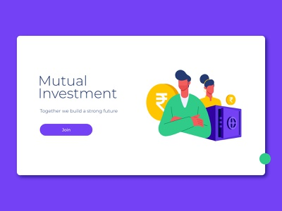 Mutual Investment - UI investing investment character latest vector web design website ui colors dribbble design illustration