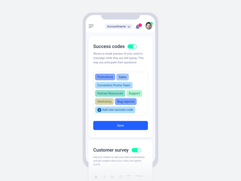 Succes codes chat mobile ui ux ui interface