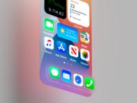 IOS 14 3d product design mobile widgets big sur apple ios 14