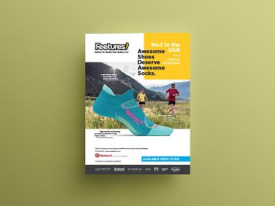 Feetures! Print Ad print ad print print advertising indesign design branding advert graphic design adobe