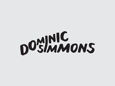 Personal Brand Logo wordmark icon branding illustrator graphic design dominic simmons personal logo personal brand personal branding logotype logo logo design logo mark