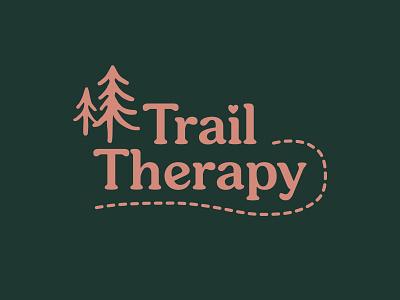 Trail Therapy Logo adobe design icon illustration illustrator graphic design therapy trail trail therapy branding design branding and identity branding logotype logo design logo