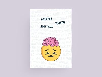 Mental Health Matters Poster adobe poster design poster illustration illustrator graphic design mental health awareness mental health