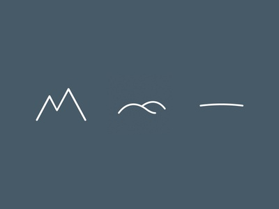 Terrain Icons graphic design adobe flat hills mountain journal blog illustrator icon terrain
