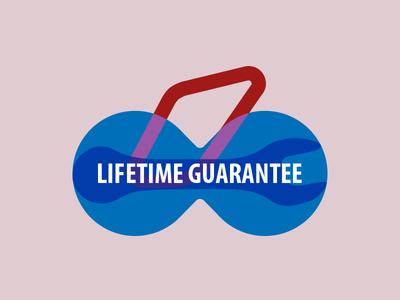 Lifetime Guarantee Icon tools infinity infinite bicycle graphic design illustrator adobe icon lifetime guarantee unior tools