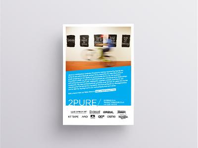 2pure Trade Show Leaflet a5 layout indesign adobe graphic design advert leaflet