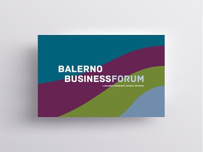 Balerno Business Forum Identity illustrator identity edinburgh graphic design business card ident design adobe