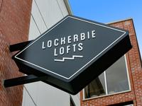 Exterior Hanging Signage for Lockerbie Lofts
