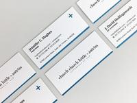 Church Church Hittle + Antrim — Business Cards