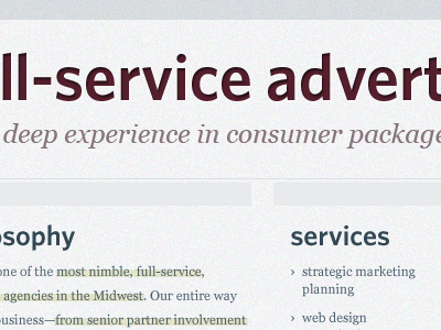 Agency Redesign redesign work