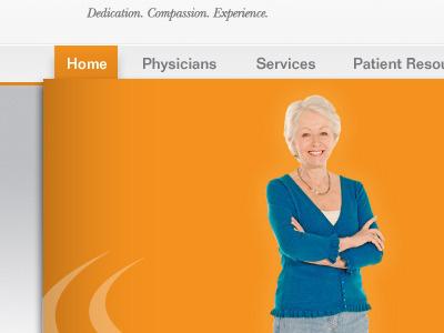 orange home orange grey helvetica navigation