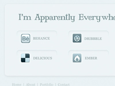 i exist social icons light buttons