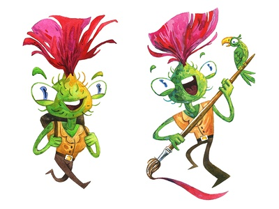 mr Thistle character design