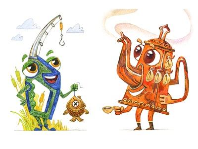 Characters for Mr Thistle the Wanderer
