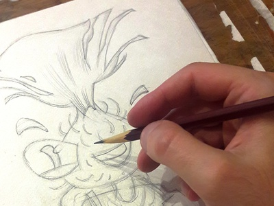 mr Thistle character in progress